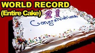 Birthday Cake Eating World Record (Entire Cake)