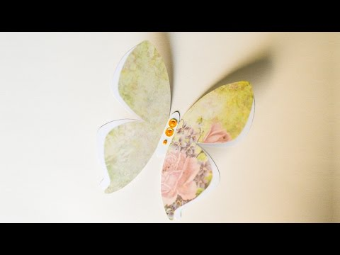 How to Make - Greeting Card Big Butterfly Birthday Mother's Day - Step by Step DIY | Kartka Motyl