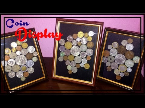 Diy Coin Collection Frame Display On Budget (easy to remove)