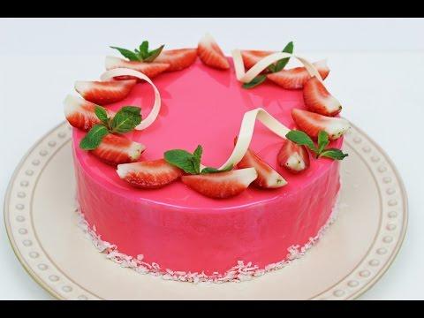 Strawberry Mousse Cake | Strawberry Cake