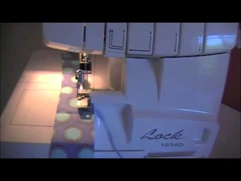 Raechel Myers - sewing a rolled hem with a serger