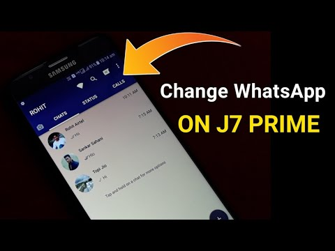 Change WhatsApp On Your J7 PRIME : Theme,Designed Text Everything | Techno Rohit |