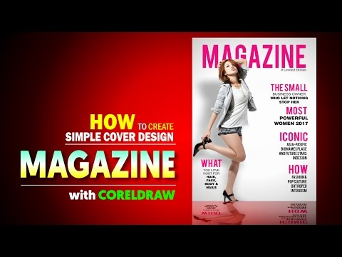 Create a magazine Cover In CorelDRAW -  Tutorial desain cover majalah