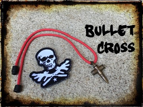 Brass Bullet Cross Necklace