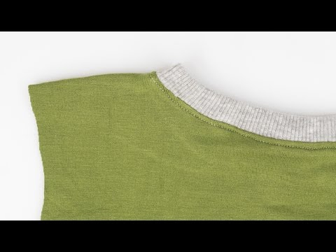How to Sew a Ribbed Neckline - T-shirt Collar