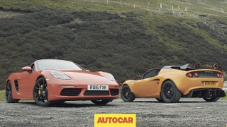 Porsche 718 Boxster S versus Lotus Elise Cup 250 | Review | two great sports cars driven | Autocar