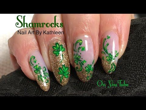 Saint Patrick's Day Nail Art - Shamrocks