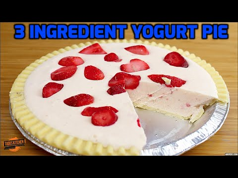 Strawberry Yogurt Pie Recipe - 3 Ingredients