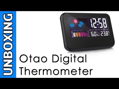 Otao Digital Room Thermometer Unboxing