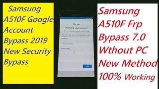 Samsung A5 (6) A510FD Frp Bypass U5 7 0 Note 5 Without PC