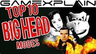 Top 10 BIG HEAD Modes in Gaming (DK Mode Extravaganza!)