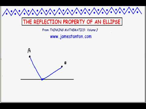 Proving the Reflection Property of an Ellipse (Tanton Mathematics)