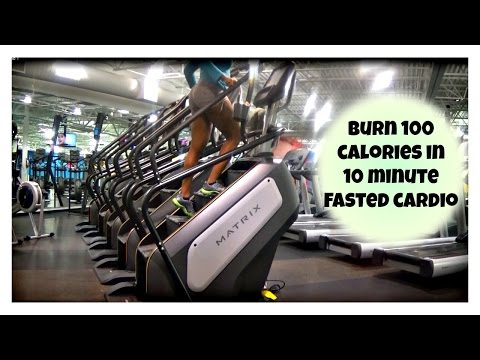 10 minute StairMaster cardio workout| Burn calories for weight loss-Fasted cardio explained