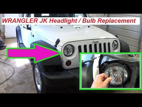 Jeep Wrangler JK Headlight Replacement, Headlight bulb replacement