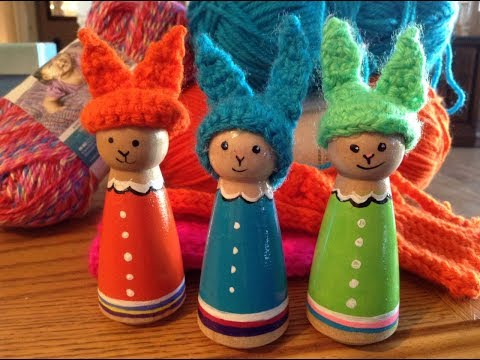 Part 2 of 3 - DIY Easter Craft Making a Peg Doll Bunny
