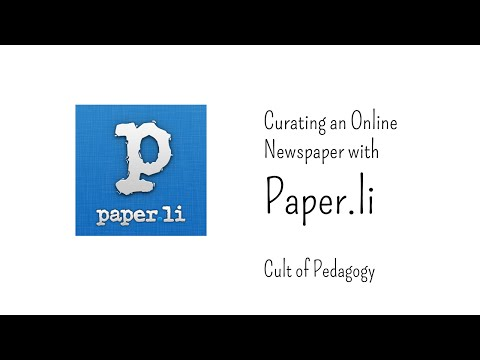 Curating an Online Newspaper with Paper.li