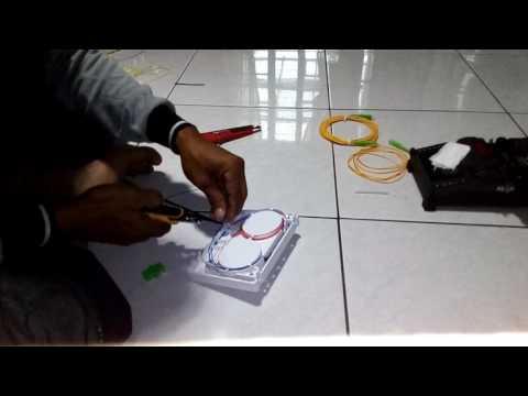 Install terminal box fiber optic
