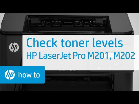 Checking Toner Levels - HP LaserJet Pro MFP M201 and M202 Printer Series