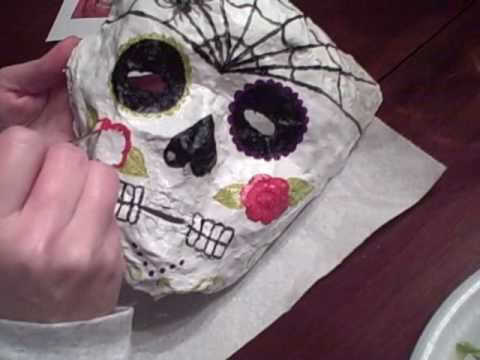 Making Day of the Dead Masks at Hilton's Place