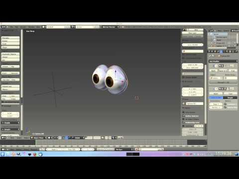 Blender cartoon eye rig test