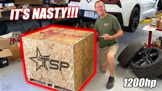 The Bald Eagle Machine's 1200hp Texas Speed LTX Engine Has Arrived!!! (FREEDOM INFUSED)