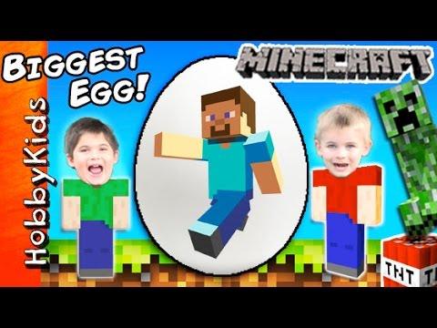 Giant MINECRAFT Surprise Egg