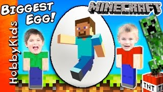 Giant MINECRAFT Surprise Egg