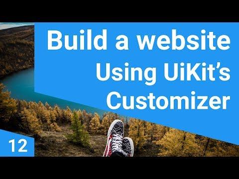 Build a responsive website tutorial 12 - Uikit customizer