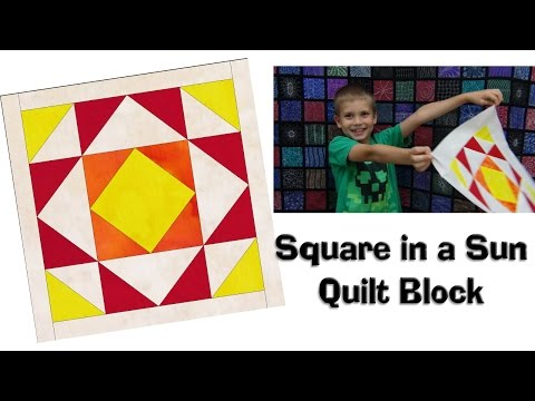 How to Make a Square in a Sun Quilt Block - Patchwork Quilting Tutorial with Leah Day