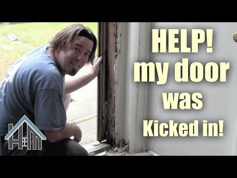 How to replace a door jamb, break in, kicked in! Easy! Home Mender