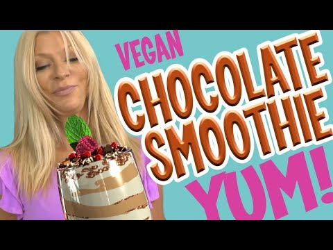 Chocolate Smoothie WOW Recipe- vegan non dairy healthy & raw