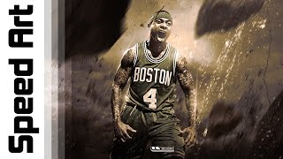 Sports Design | Isaiah Thomas | Speed Art (Photoshop)