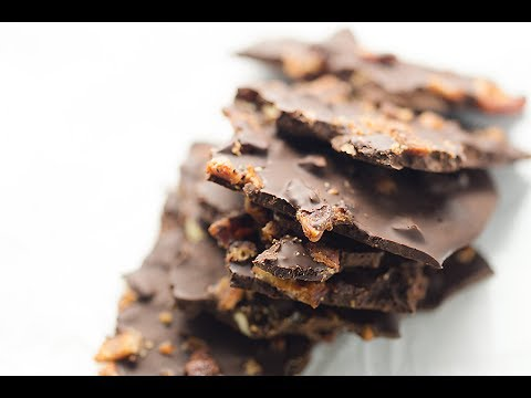 Sugar Free Chocolate Bark with Bacon and Almonds