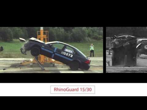 Marshalls RhinoGuard Bollards Crash Test Footage