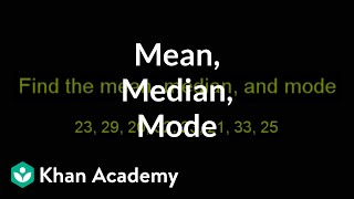 Finding Mean Median And Mode Descriptive Statistics Probability And S