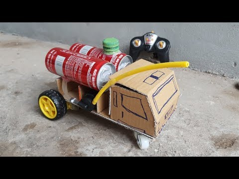 How to make a RC Fire Truck From Cardboard And Cocacola Cans | Diy by HT Creative