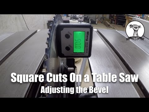 WoodWorking: Adjusting The Bevel On A Table Saw to 90 degrees and 45 degrees