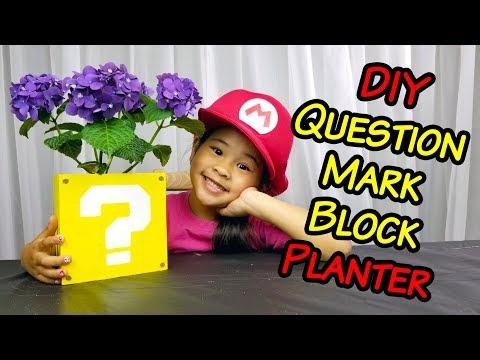 DIY Mario Question Mark Block Planter | ? Block Flower Tutorial & Crayola Experience Winner!