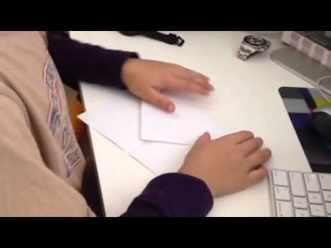 How to make a moth paper airplane