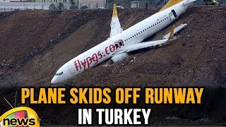 Plane Skids Off Runway During landing at Turkey Airport | Mango News