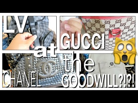 GOODWILL HUNTING LV, GUCCI, CHANEL, AND MARC JACOBS AT THE THRIFT?!