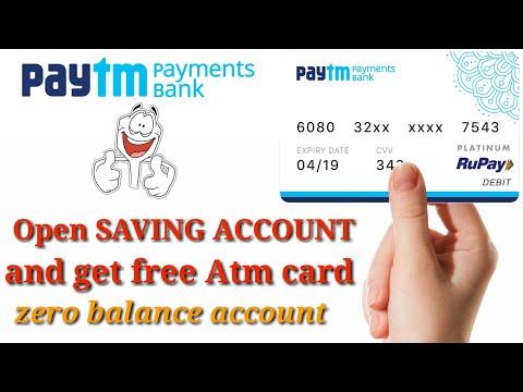 Open Paytm saving bank account | zero balance | Free ATM card
