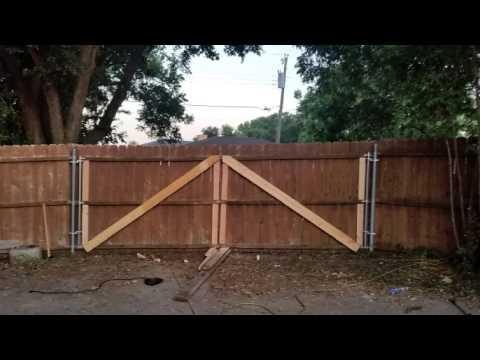 I put a gate on my fence