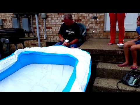 HOW TO INFLATE AN INFLATABLE POOL IN LESS THAN 5 MINUTES