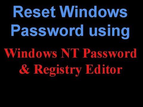 How to Reset Your Windows Password using Offline NT Password Registry Editor