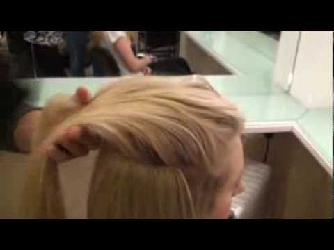 Synthetic Clip in hair extensions tutorial www.hairspray.ie