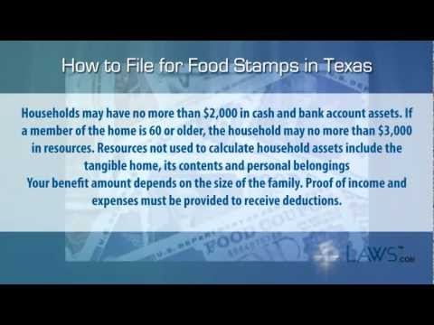 How to File for Food Stamps Texas