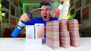 GLOWING 1000 DEGREE Knife vs 100 iPhone 7