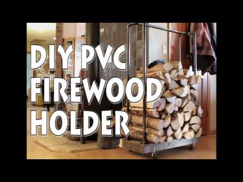 Industrial Chic Firewood Holder with PVC