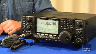 Icom IC R8500 Basic Operation - Frequency input and modes